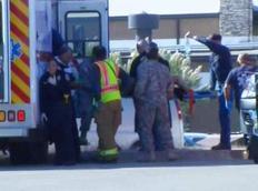 Τραυματίας μεταφέρεται στο νοσοκομείο