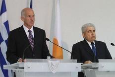 Με τον κύπριο πρόεδρο συναντήθηκε σήμερα ο πρωθυπουργός πριν  ταξιδέψει για το Ισραήλ.